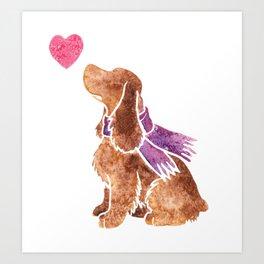 Watercolour English Cocker Spaniel Art Print