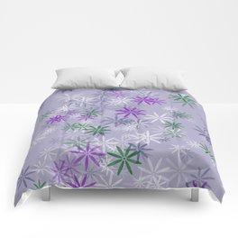 Lavander glow flower power Comforters
