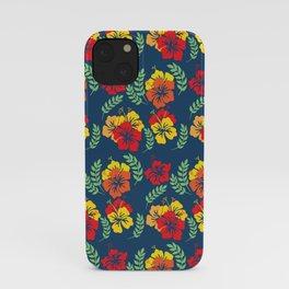 Vintage Hawaiian Tropical Flowers iPhone Case