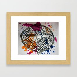Splotchy Medallion Framed Art Print