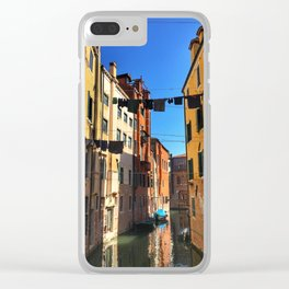 Laundry Day in Venice Clear iPhone Case