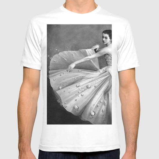 White Morning - graphite pencil drawing T-shirt