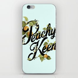 Peachy Keen : Mint iPhone Skin