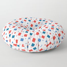 4th Of July red blue rectangle American pattern Floor Pillow