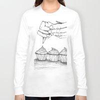 cupcake Long Sleeve T-shirts featuring cupcake by Rene Robinson