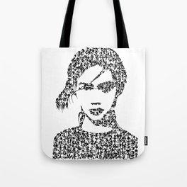 Kanji Calligraphy Art :woman's face #28 Tote Bag