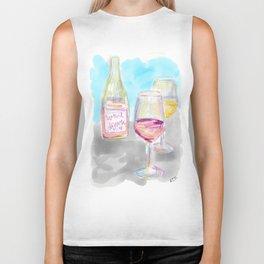Wine Down Biker Tank