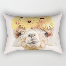Alpaca Flowers Rectangular Pillow