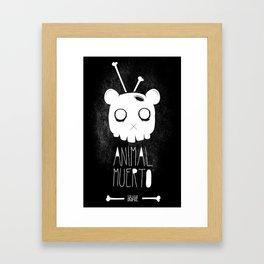 Animal Muerto Framed Art Print