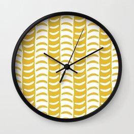 Wavy Stripes Mustard Yellow Wall Clock