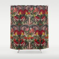 lungs Shower Curtains featuring ANATOMY: LUNGS by MANDIATO ART & T-SHIRTS