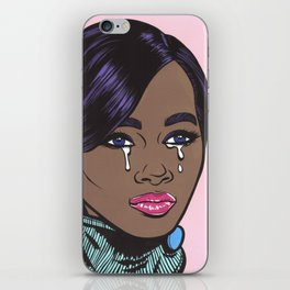 Crying Pastel African American Woman iPhone Skin