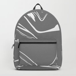 Grey With White Liquid Paint Backpack