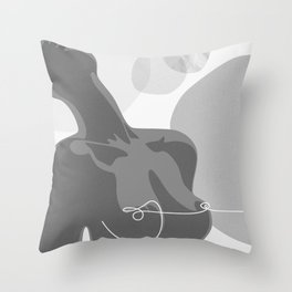 Covered With Line Throw Pillow
