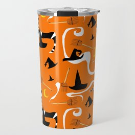 Witches Hats and Brooms Travel Mug