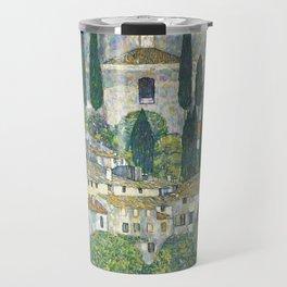 Village - Gustav Klimt Travel Mug