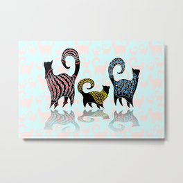 CASHMERE CATS Metal Print