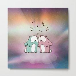 Singing Rabbits Metal Print