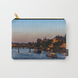 Pont des arts at nightfall - Paris, France Carry-All Pouch
