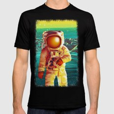 Space Man Black LARGE Mens Fitted Tee