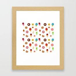 Kawaii food Framed Art Print