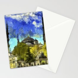 Blue Mosque Istanbul Van Gogh Stationery Cards
