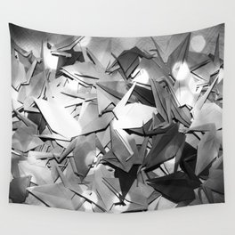 Senbazuru | black and white Wall Tapestry