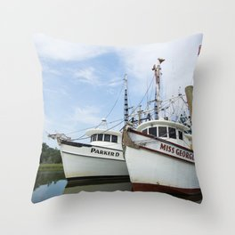McClellanville Shrimpers Throw Pillow