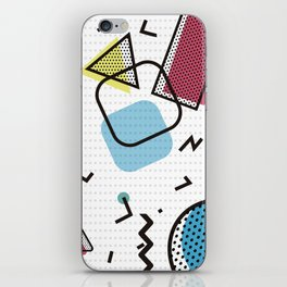 Modernistic abstract shape pattern texture iPhone Skin