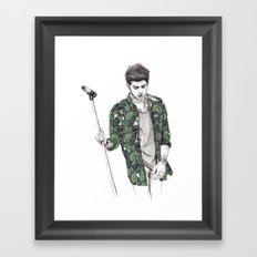 Zayn Floral Framed Art Print