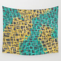 climbing Wall Tapestries featuring Climbing Stairs by Emily Rose Thomson
