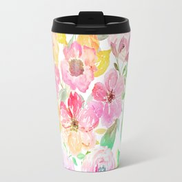 Classy watercolor hand paint floral design Travel Mug