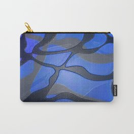 Retro 80s Glossy Abstract Fierce Lines Carry-All Pouch