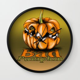 Bad Pumpkin Wall Clock