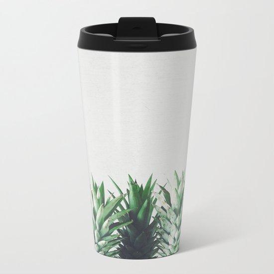 Pineapple Leaves Metal Travel Mug