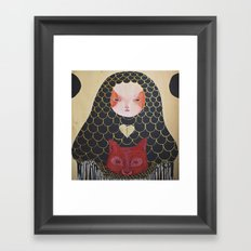 In the Thicket Hides a Foxy Spirit Framed Art Print