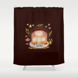 Cozy coffee shop Shower Curtain