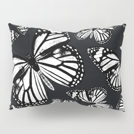 Monarch Butterflies | Monarch Butterfly | Vintage Butterflies | Butterfly Patterns | Black and White Pillow Sham