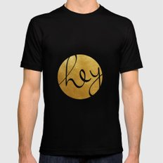 Hey, stranger! Black MEDIUM Mens Fitted Tee