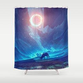 Stellar collision Shower Curtain