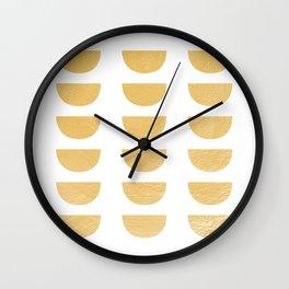 Lena Gold Half Moon Abstract Wall Clock
