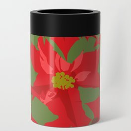 Poinsettia Love (Red) Can Cooler