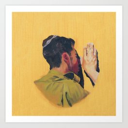 Untitled (soldier, gold) Art Print