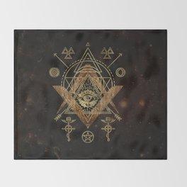 Mystical Sacred Geometry Ornament Throw Blanket