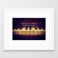 mozart Framed Art Prints featuring Mozart Music by KimberosePhotography