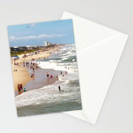 Tourist At Kure Beach Stationery Cards