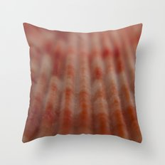 Red shell Throw Pillow