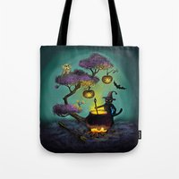 halloween Tote Bags featuring Halloween by Anna Shell