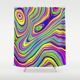 Neon Pour Shower Curtain
