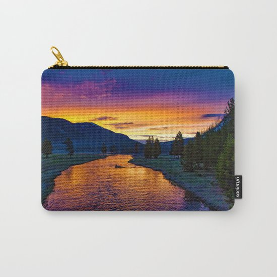 Sundown At Yellowstone Carry-All Pouch